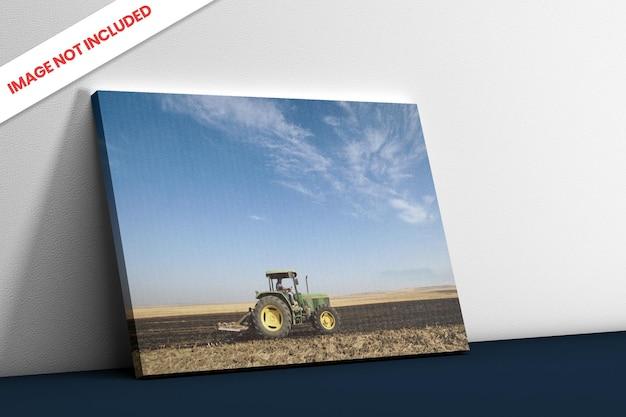 사진 캔버스 측면보기 모형 프리미엄 PSD 파일