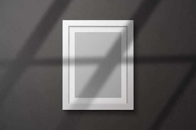 Фоторамка макет на стене Premium Psd