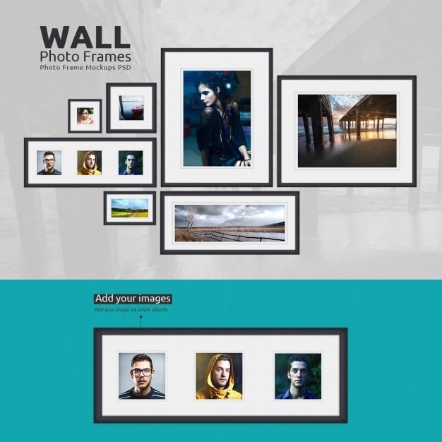 Photo frames mock up design Free Psd