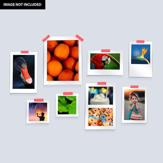 Photo frames set Premium Psd