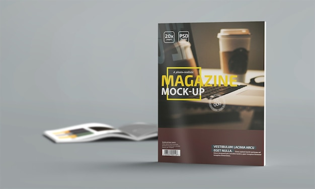 Photo-realistic magazine mockup Premium Psd