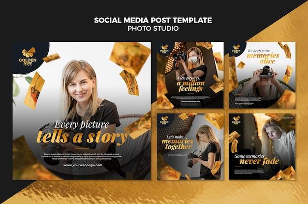 Modello di post sui social media dello studio fotografico Psd Gratuite