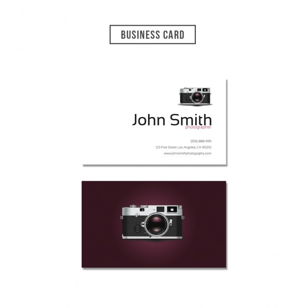Photographer business card design psd file free download photographer business card design free psd reheart Images
