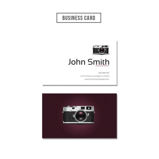 Photographer business card design Free Psd