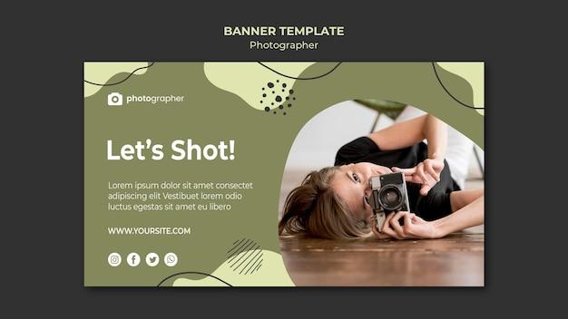 사진 작가 스튜디오 배너 템플릿 무료 PSD 파일