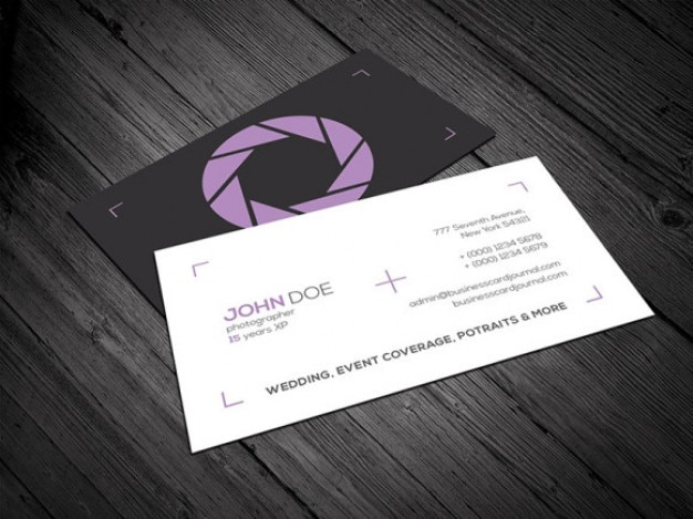 Photography Business Card Template PSD File Free Download - Photography business cards templates for photoshop