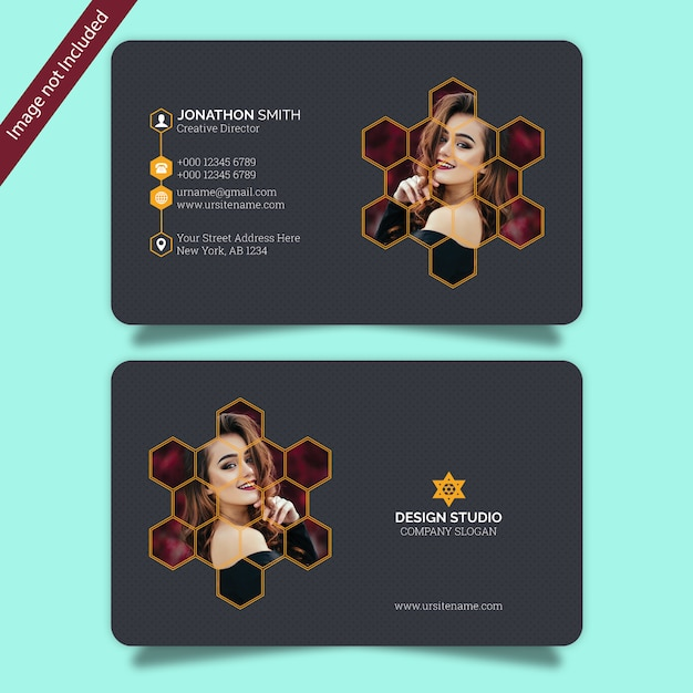 Photography business card Premium Psd