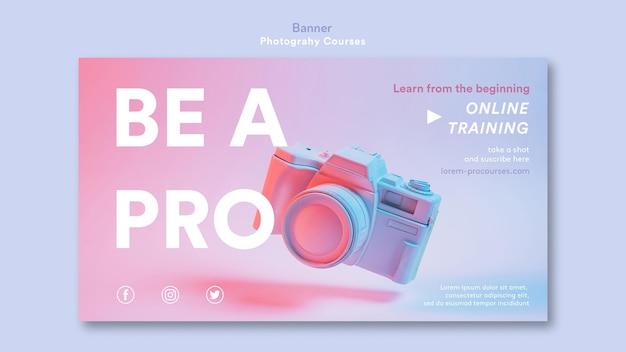 Шаблон баннера концепции фотографии Бесплатные Psd