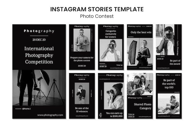 Photography contest instagram stories Premium Psd