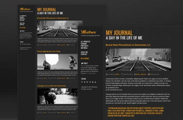 Photography Portfolio Template PSD File Free Download - Photography portfolio template