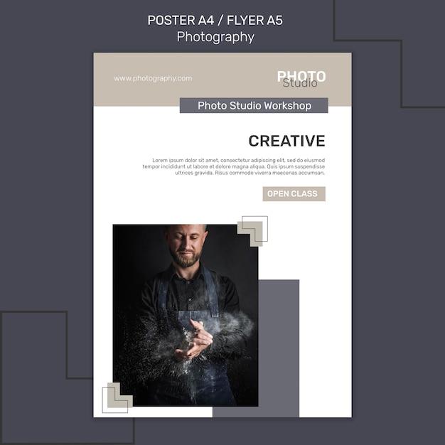 Modello di poster di fotografia Psd Gratuite