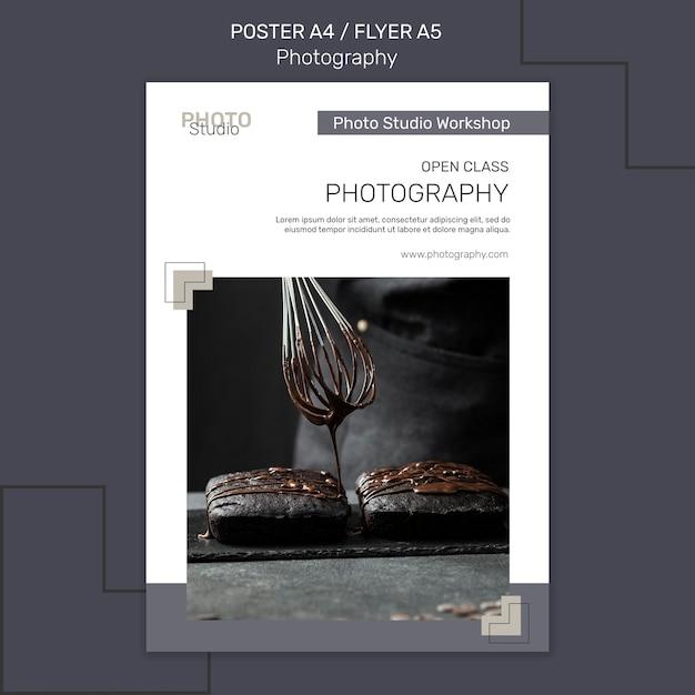 Шаблон плаката фотографии Premium Psd