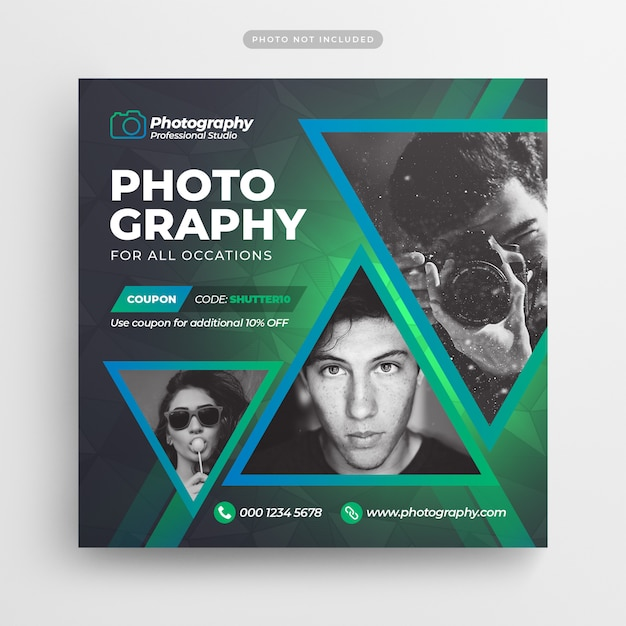 Photography social media flyer and banner Premium Psd