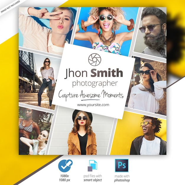 Photography social media web banners Premium Psd