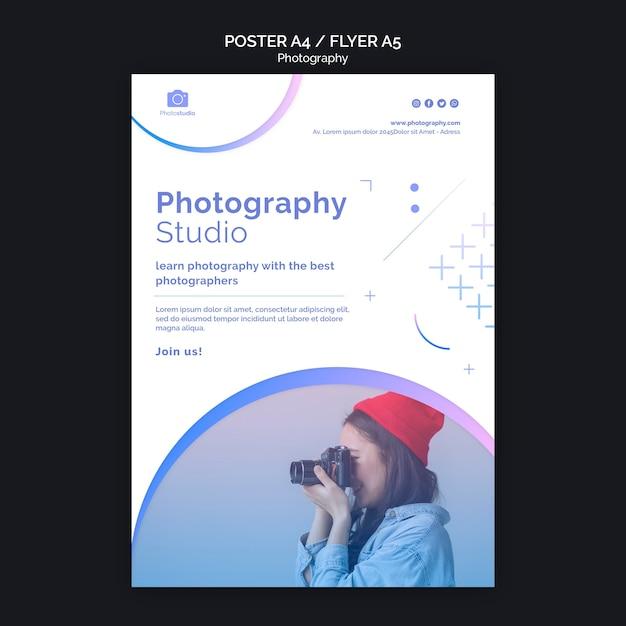 사진 스튜디오 포스터 인쇄 템플릿 무료 PSD 파일
