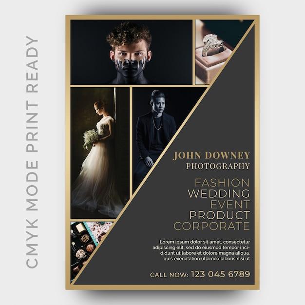 Photography studios flyer design template Premium Psd