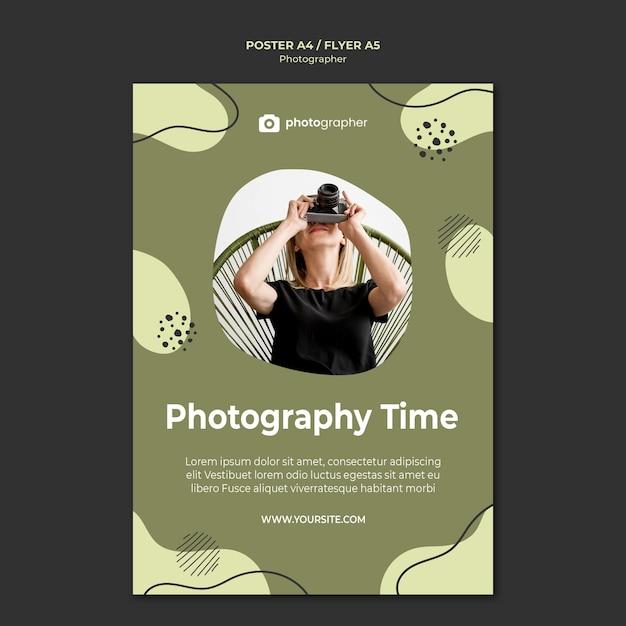 전단지 템플릿-사진 시간 무료 PSD 파일