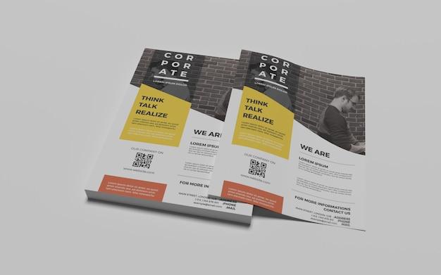 Photorealistic a4 flyer mock-ups Premium Psd