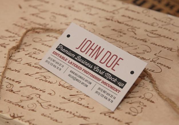 Photorealistic business card mock up Premium Psd