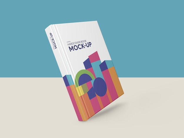 Photorealistic hardcover book mockup Premium Psd