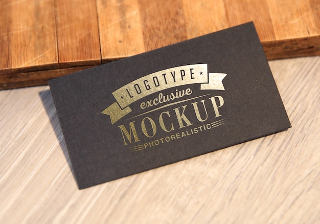 Photorealistic logotype mockup in vintage style Premium Psd
