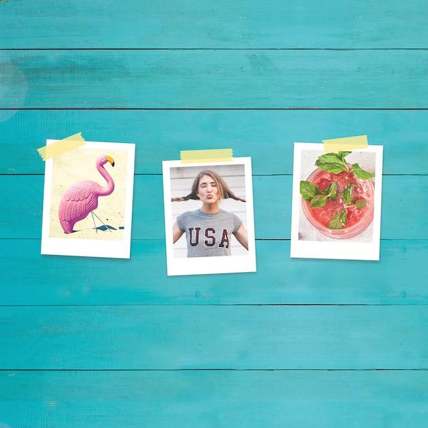 Photos mock up design Free Psd