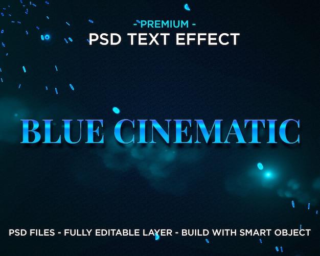 ブルーシネマティックプレミアムphotoshop psdスタイルテキスト効果 Premium Psd