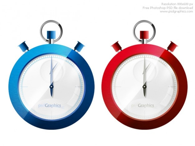 Photoshop stopwatch icon Free Psd