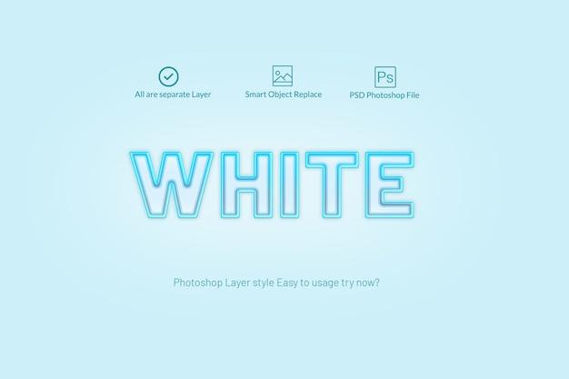 ブルーライトphotoshopのレイヤースタイル Premium Psd