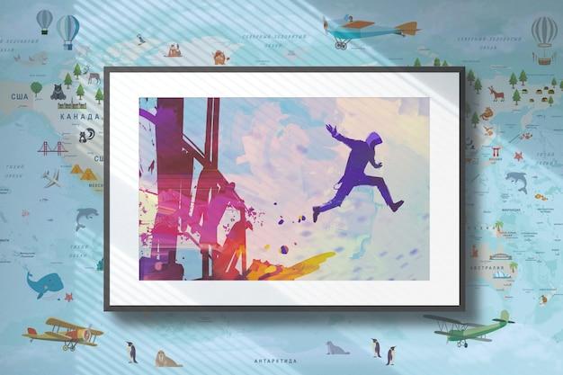 ウィンドウシャドーモックアップのある壁の画像 無料 Psd