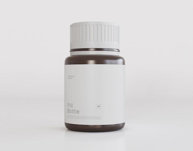 Pill bottle mockup Free Psd