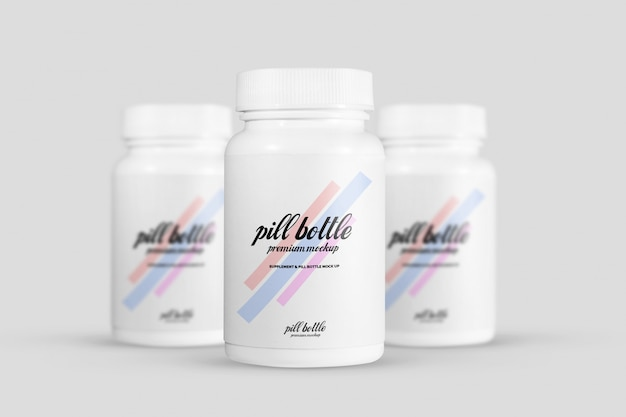 Pill bottle mockup Premium Psd