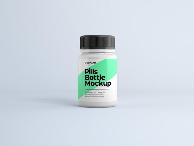 Бутылка таблеток с редактируемым дизайном макета psd Premium Psd