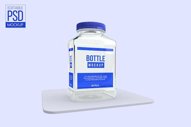 Макет бутылки с лекарством Premium Psd