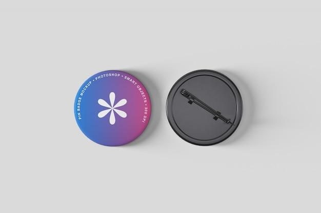 Pin button badge mockup Premium Psd