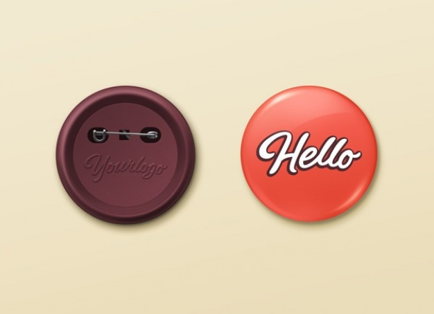 pin buttons mockup psd template psd file free download