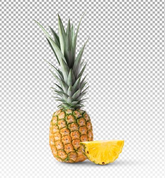 Плоды ананаса изолированные Premium Psd