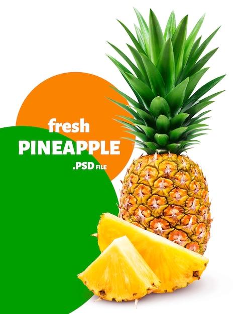 Изолированный ананас Premium Psd