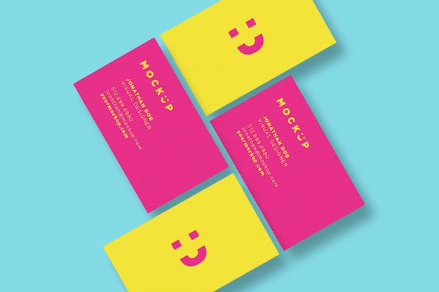 Pink and yellow business card mockup set psd file premium download pink and yellow business card mockup set premium psd reheart Choice Image