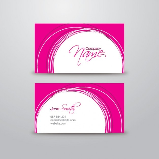 Pink Business Card Template Free Psd