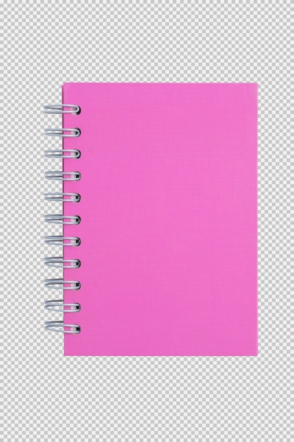 Pink notebook isolated on white background Premium Psd