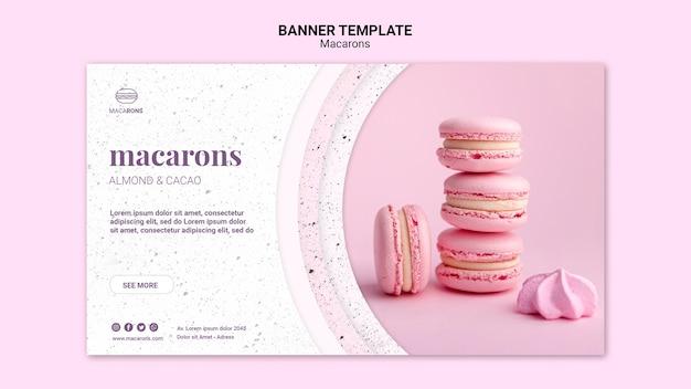 Розовая куча шаблонов macarons баннер Бесплатные Psd