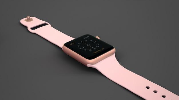 Pink smartwatch mockup Free Psd