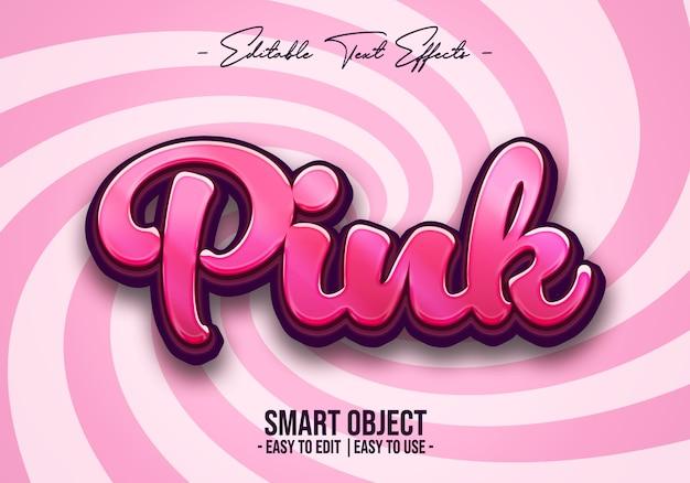 ピンクのテキストスタイル効果 Premium Psd