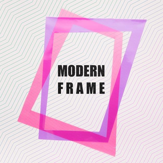Pink and violet modern frames mock-up Free Psd