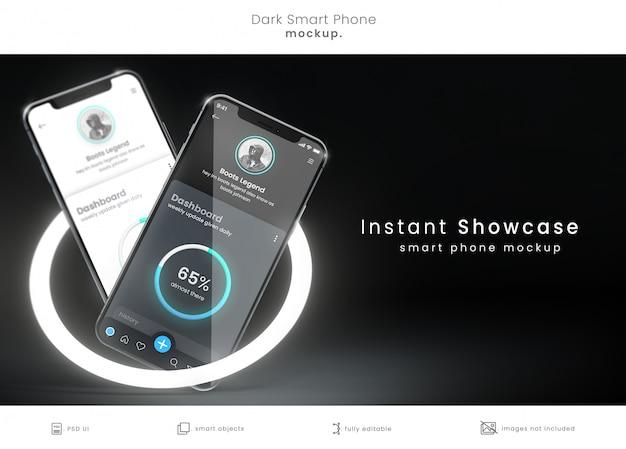 Pixelパーフェクトスマートフォンモックアップ Premium Psd
