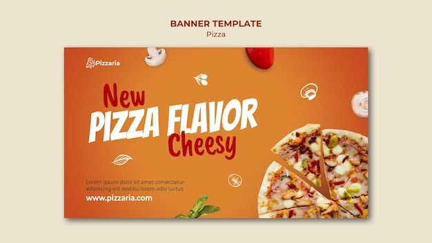 ピザバナーテンプレートのコンセプト 無料 Psd