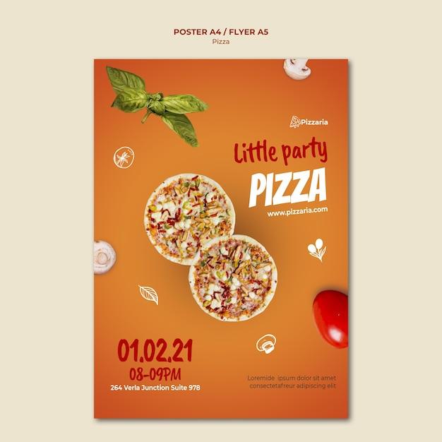 피자 전단지 템플릿 개념 무료 PSD 파일