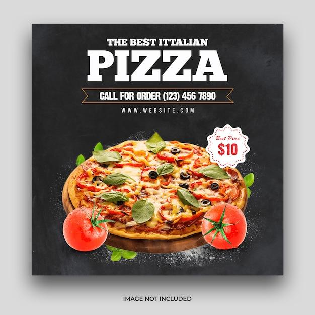 Pizza food menu social media post & web banner template premium psd Premium Psd