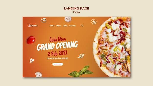 피자 방문 페이지 무료 PSD 파일